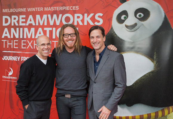 Jeffrey Katzenberg, Tim and Bill Damaschke Photographer Mark Gambino, Image courtesy ACMI
