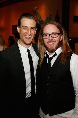 Bryce Ryness (Miss Trunchbull) and Tim Minchin during the opening night party. (Photo by Ryan Miller/Capture Imaging)