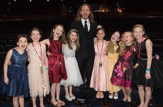 Tim and the 8 Australian Matildas at the 2016 Helpmann Awards - Photo by James Morgan