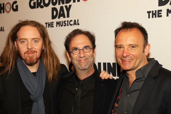 Tim & fellow creatives Danny Rubin (Book) & Matthew Warchus (Director)