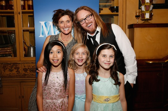 (L-R Front) The Matildas - Gabby Gutierrez, Mabel Tyler and Mia Sinclair Jenness with (L-R Back) Lucy Dahl and Tim during the opening night party. (Photo by Ryan Miller/Capture Imaging)
