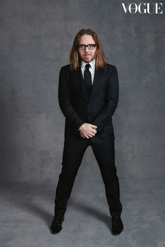 Tim strikes a pose for Vogue Australia's January 2017 issue as part of Vogue's celebration of the Australians in Film Foundation. Photo by Julie Adams
