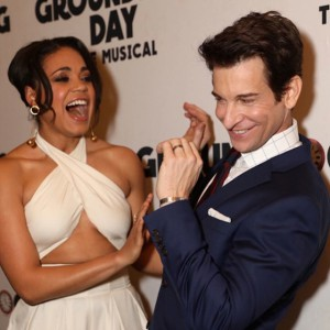 Barrett Doss (Rita) and Andy Karl (Phil)